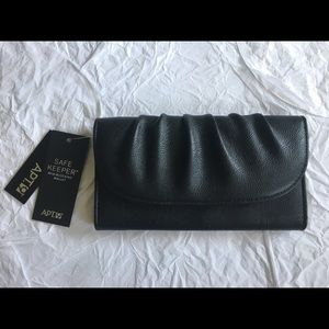 NWT Apt 9 Black Clutch